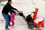 Dave and Carleigh with snow blower