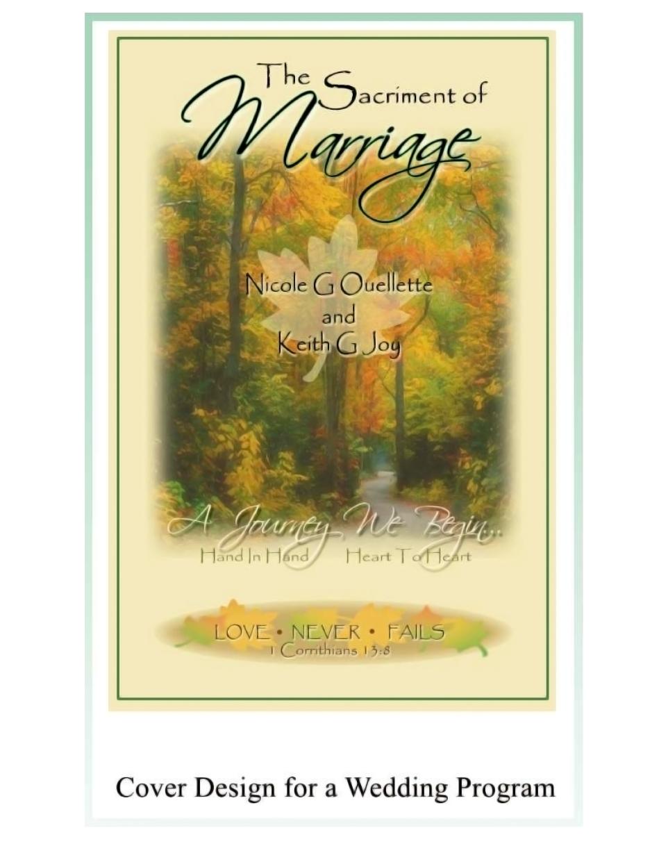 wedding program cover design